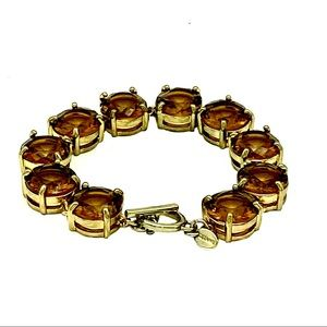 Cezanne Smoky Topaz Simulated Crystals Bracelet